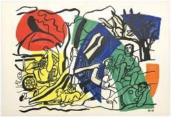 """Fernand Leger lithograph """"La partie de campagne"""""""