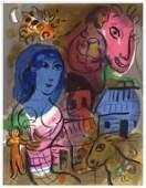"Marc Chagall ""Antilopa Passengers"" original lithograph"