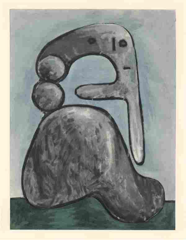 Pablo Picasso pochoir - Femme nu | Venti Pochoirs