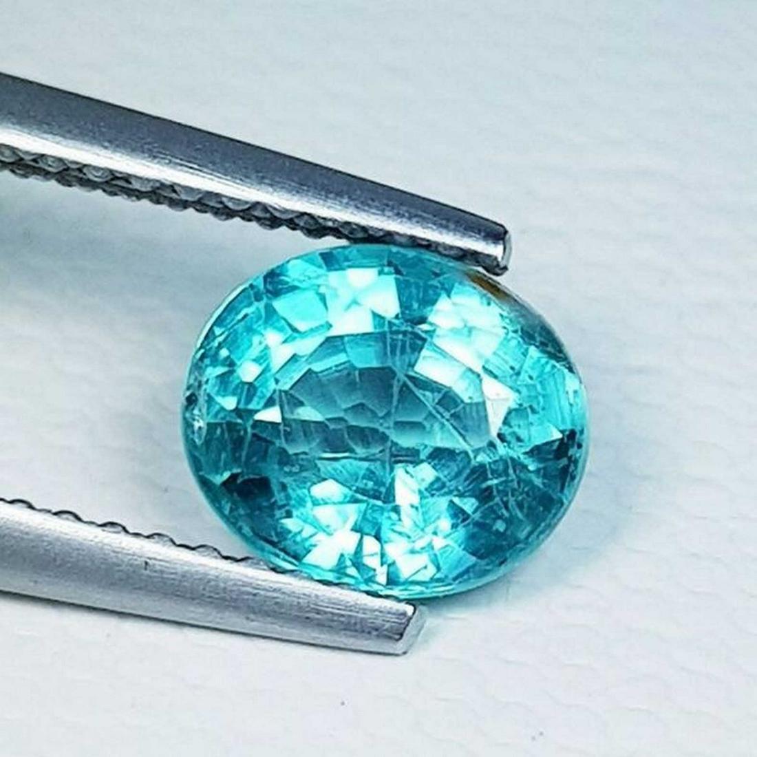 1.58 ct Natural Bluish Green Apatite Oval Cut