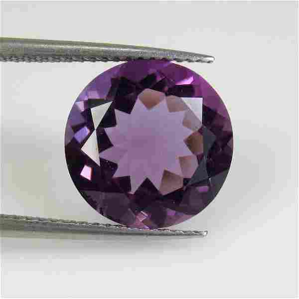 7.43 Ct Natural Purple Amethyst Round Cut