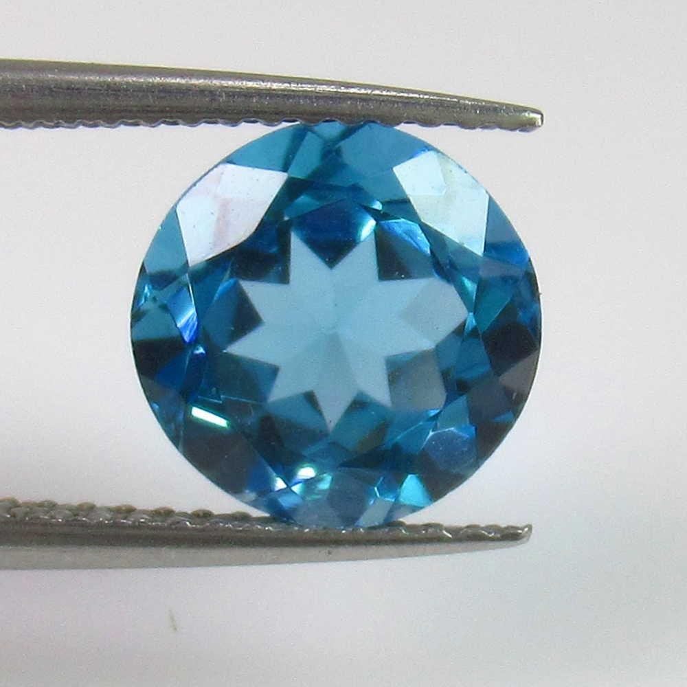 4.00 Ct Natural Blue Topaz Round Cut