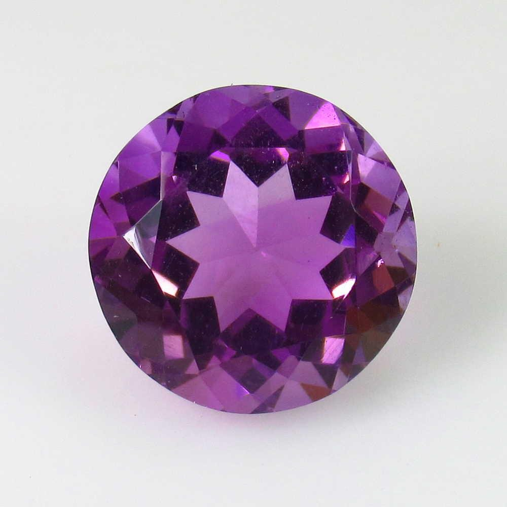 3.66 Ctw Natural Purple Amethyst Round Cut