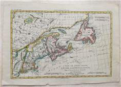 1780 - Antique map of Canadian Maritime Provinces. 1780