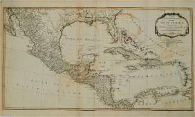 1794 Laurie & Whittle Map of the Caribbean, Mexico and