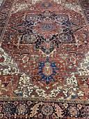 Antique Hand Woven Persian Heriz 13.4x10