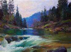 Oil painting Mountain river Serdyuk Boris Petrovich