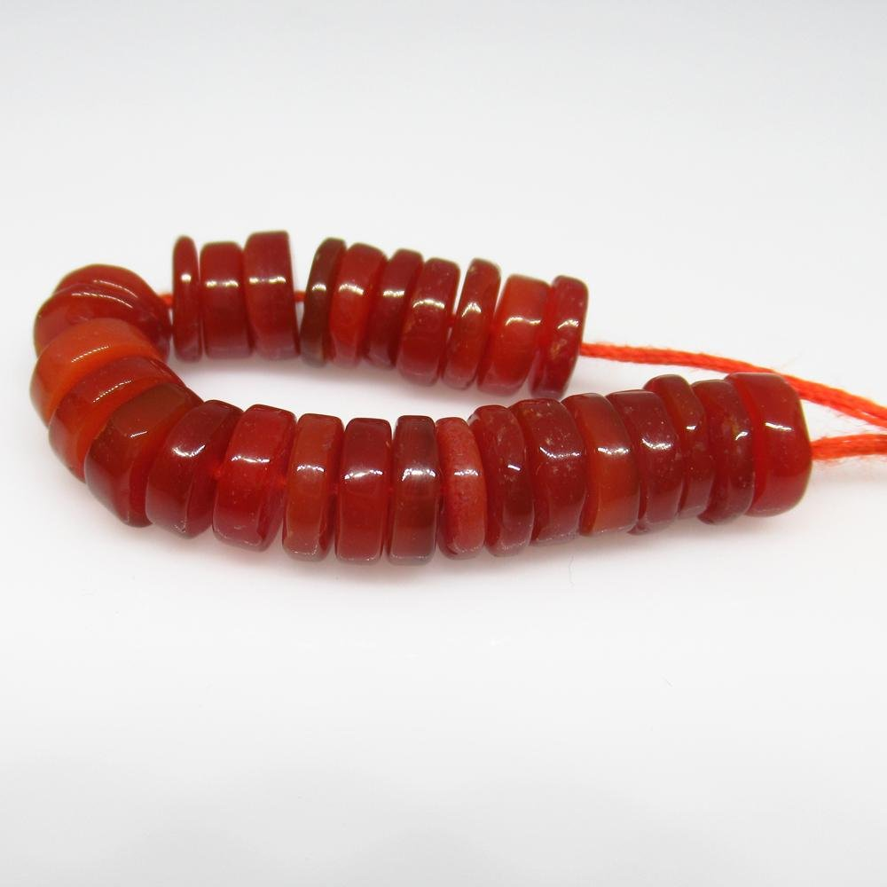 25.73 Ct Natural 28 Carnelian Drilled Round Beads