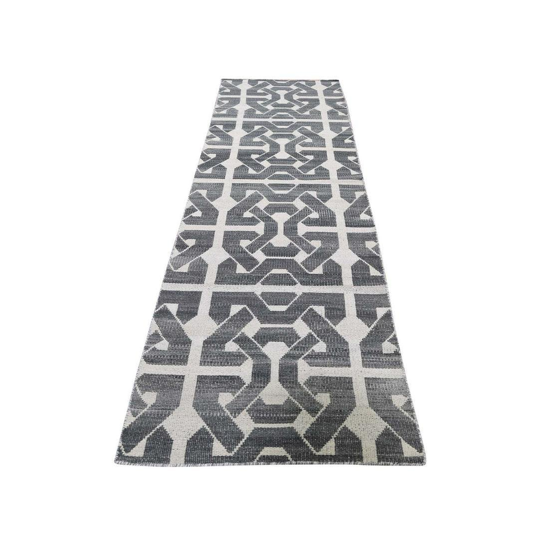 Hand Woven Flat Weave Pure Wool Reversible Kilim Runner