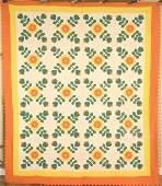 Vintage 30's Ohio Rose Applique Antique Quilt