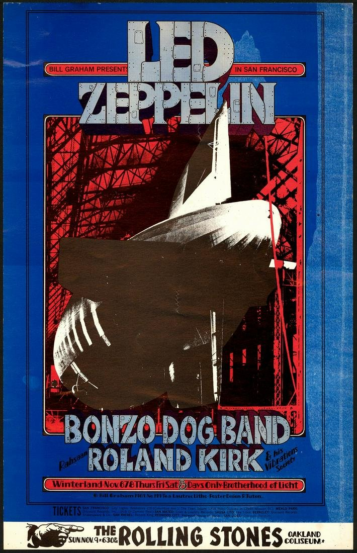 Original BG-199 Led Zeppelin Poster