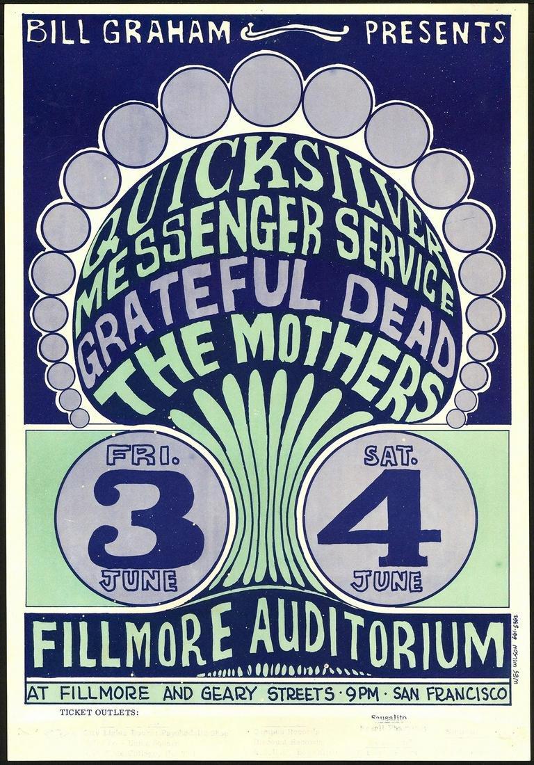 Original BG-9 Grateful Dead Poster