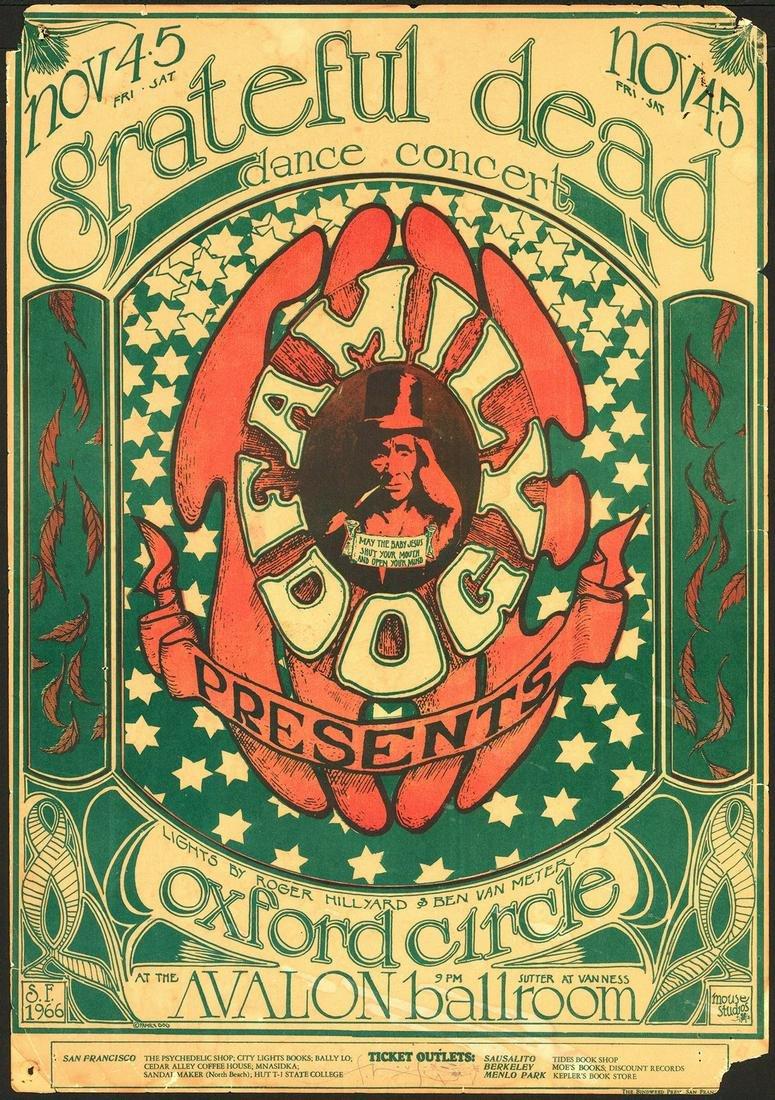 Signed Original FD-33 Grateful Dead Poster