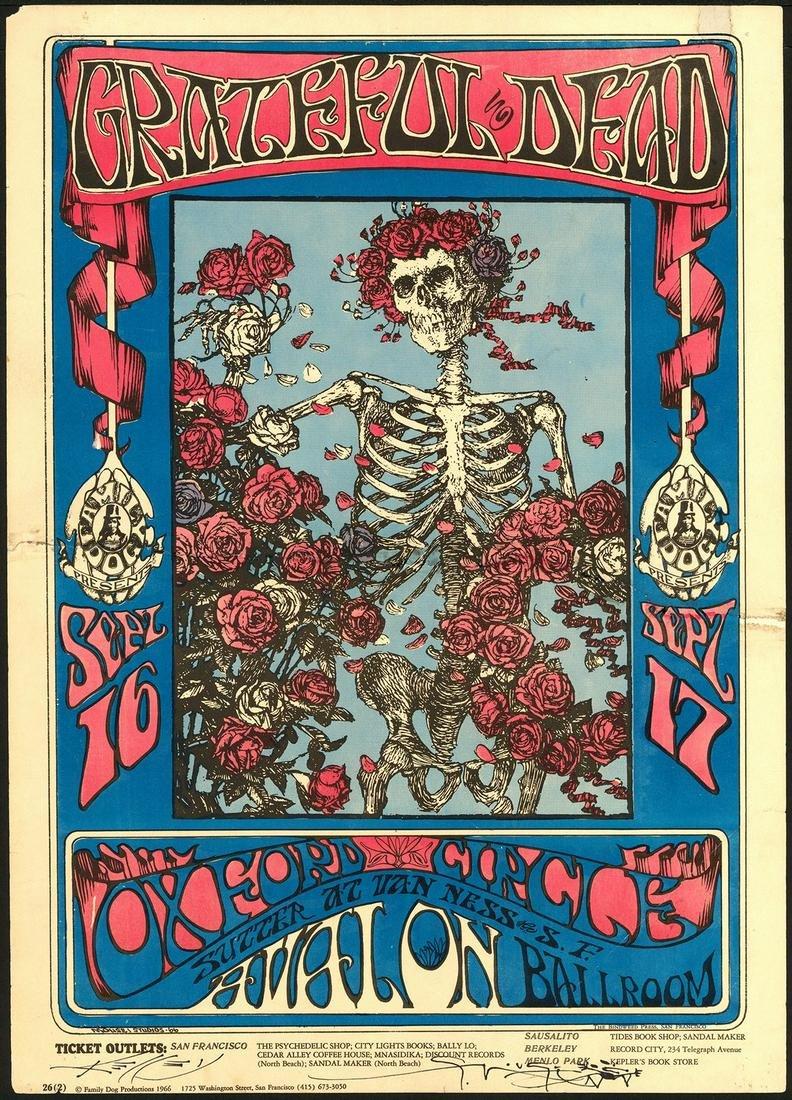 Signed Second Print FD-26 Grateful Dead Poster