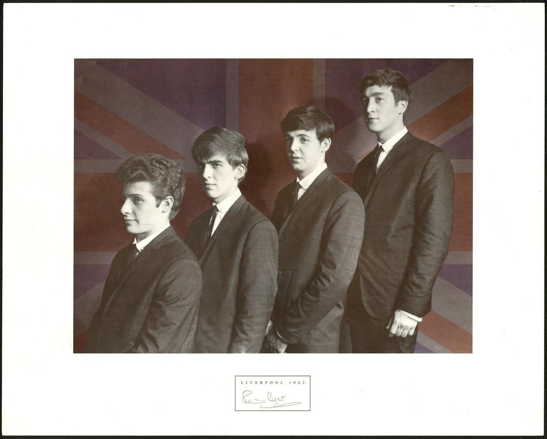 Pete Best Signed Beatles - Liverpool Photograph