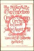 Ornette Coleman Handbill from UC Berkeley