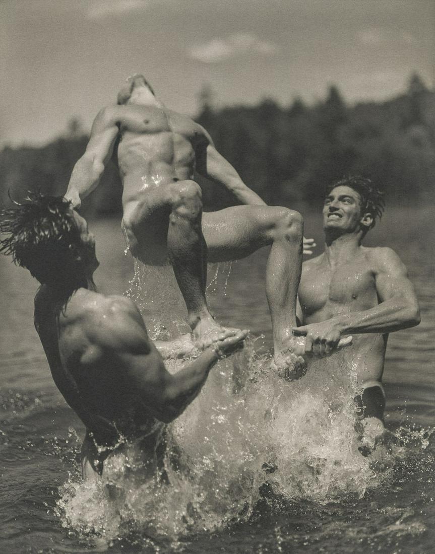 BRUCE WEBER - Ray, John and Eric, Bear Pond, 1990