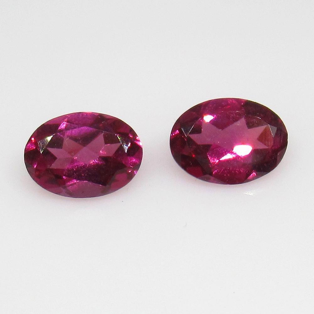 1.97 Ctw Natural Pink Rhodolite Garnet Oval Pair
