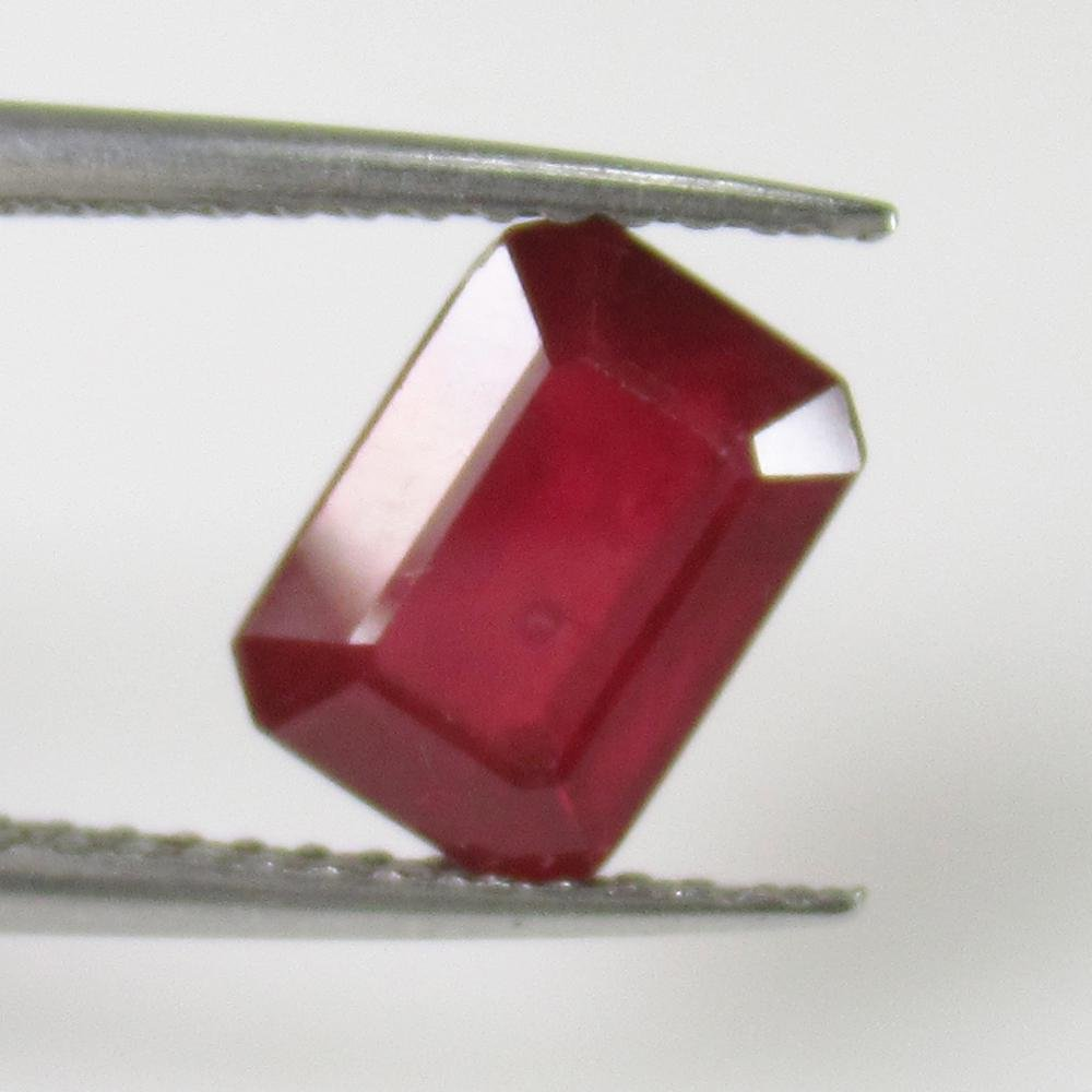 2.19 Ct Natural Blood Red Ruby Octagon Cut