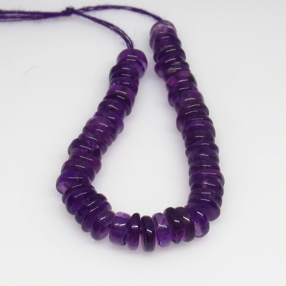 19.47 Ct Natural 49 Purple Amethyst Drilled Round Beads
