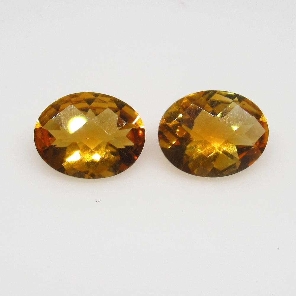 2.78 Ct Natural Yellow Citrine Oval Pair