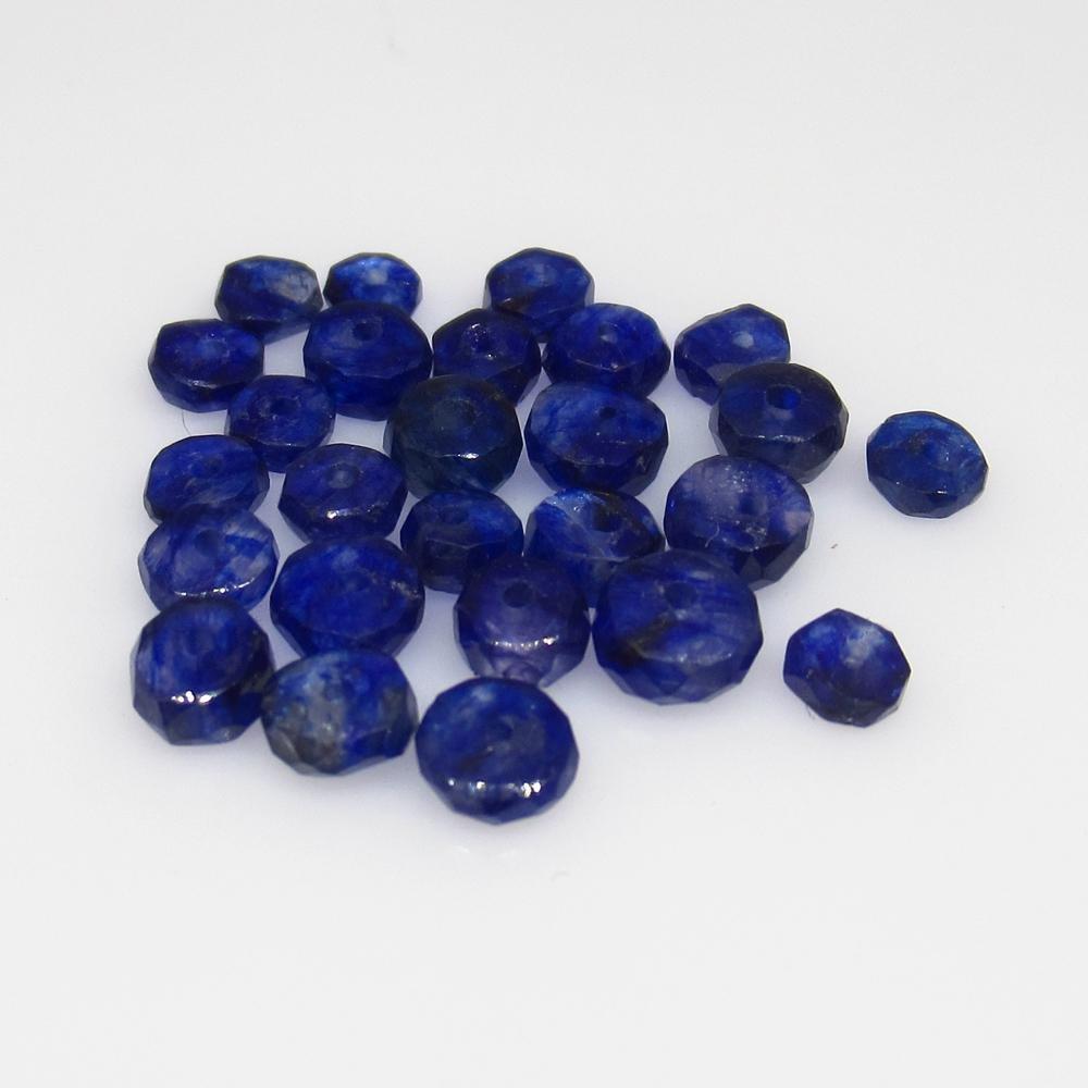 7.18 Ct Natural 28 Blue Sapphire Round Beads