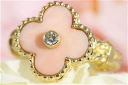 Van Cleef & Arpels 18K YG Vintage Alhambra Diamond