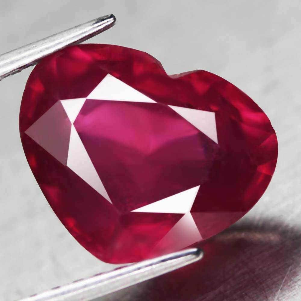 6.46 ct blood red ruby heart