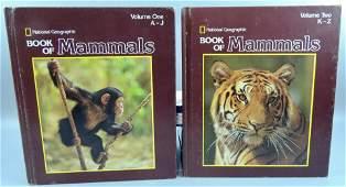 Book of Mammals, Nat'l. Geographic – Vol 1 & 2, HC, Set