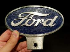 Aluminum Ford Car License Plate Fob Topper