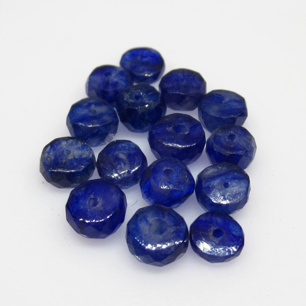 13.06 Ct Natural 15 Blue Sapphire Round Beads
