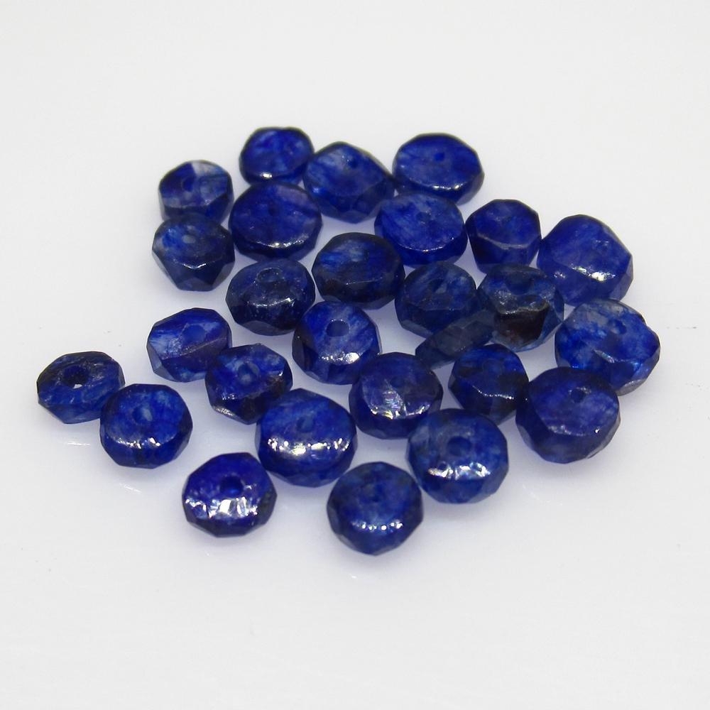 7.69 Ct Natural 27 Blue Sapphire Round Beads