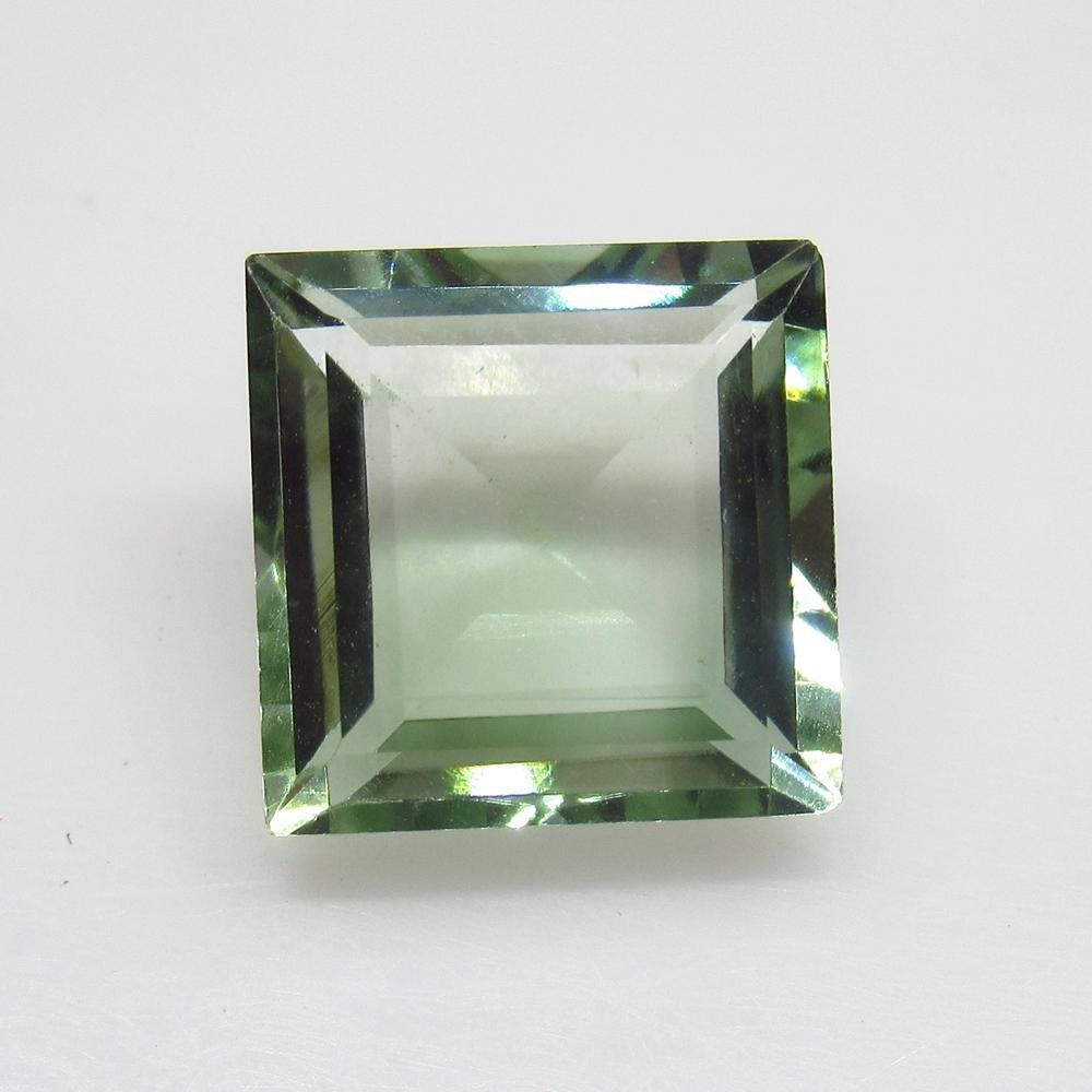 5.42 Ct Natural Green Amethyst Square Cut