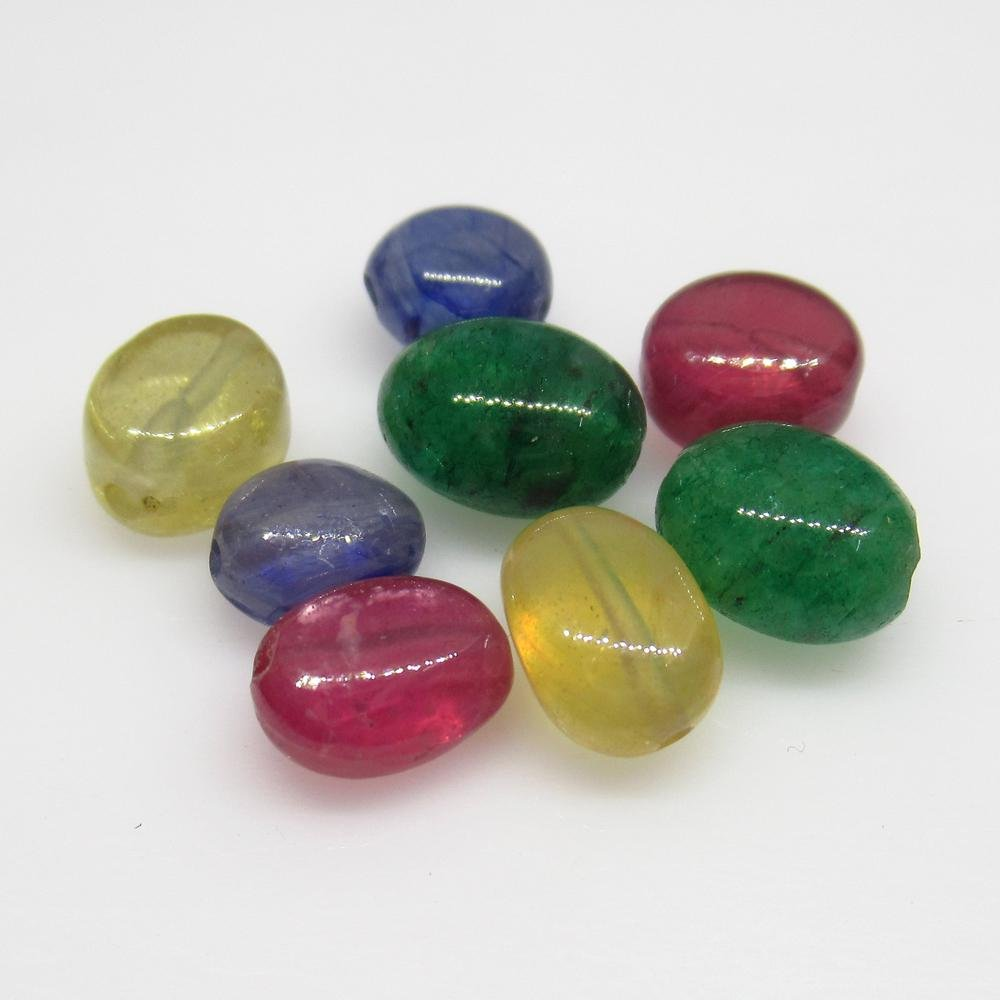 18.03 Ct Natural 8 Ruby Emerald Sapphire Beads