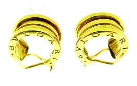 BVLGARI BZero1 Bulgari 18k Yellow Gold Hoop Earrings