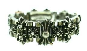 CHROME HEARTS Sterling Silver Link Bracelet Circa 1995