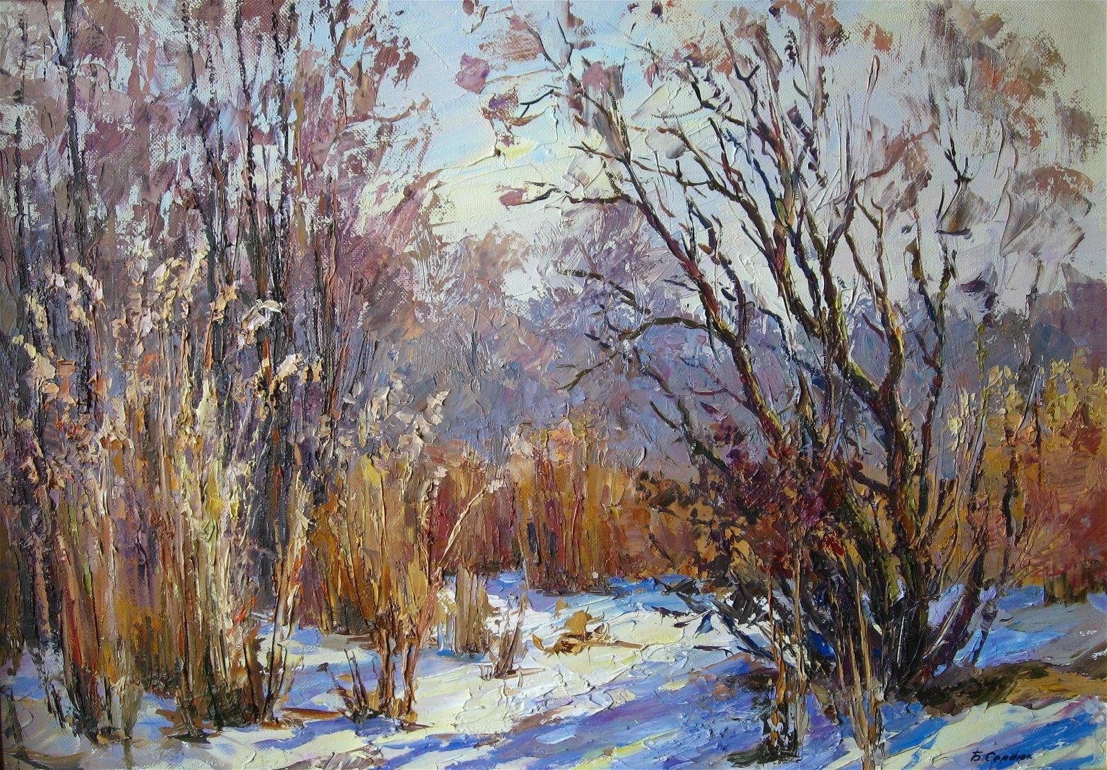 Oil painting Winter's Tale /  Serdyuk Boris Petrovich