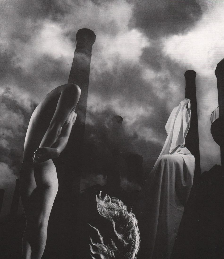 """PIERRE BOUCHER - Photomontage-""""la Revolte"""", 1950"""