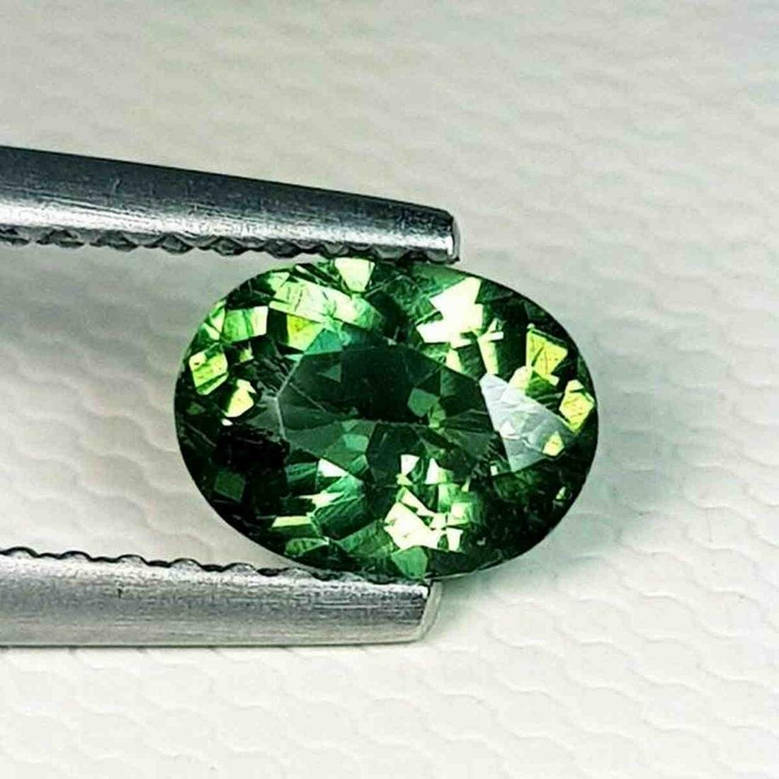 0.75 ct Natural Green Apatite Oval Cut