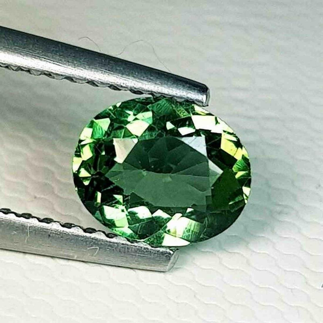 0.85 ct Natural Green Apatite Oval Cut