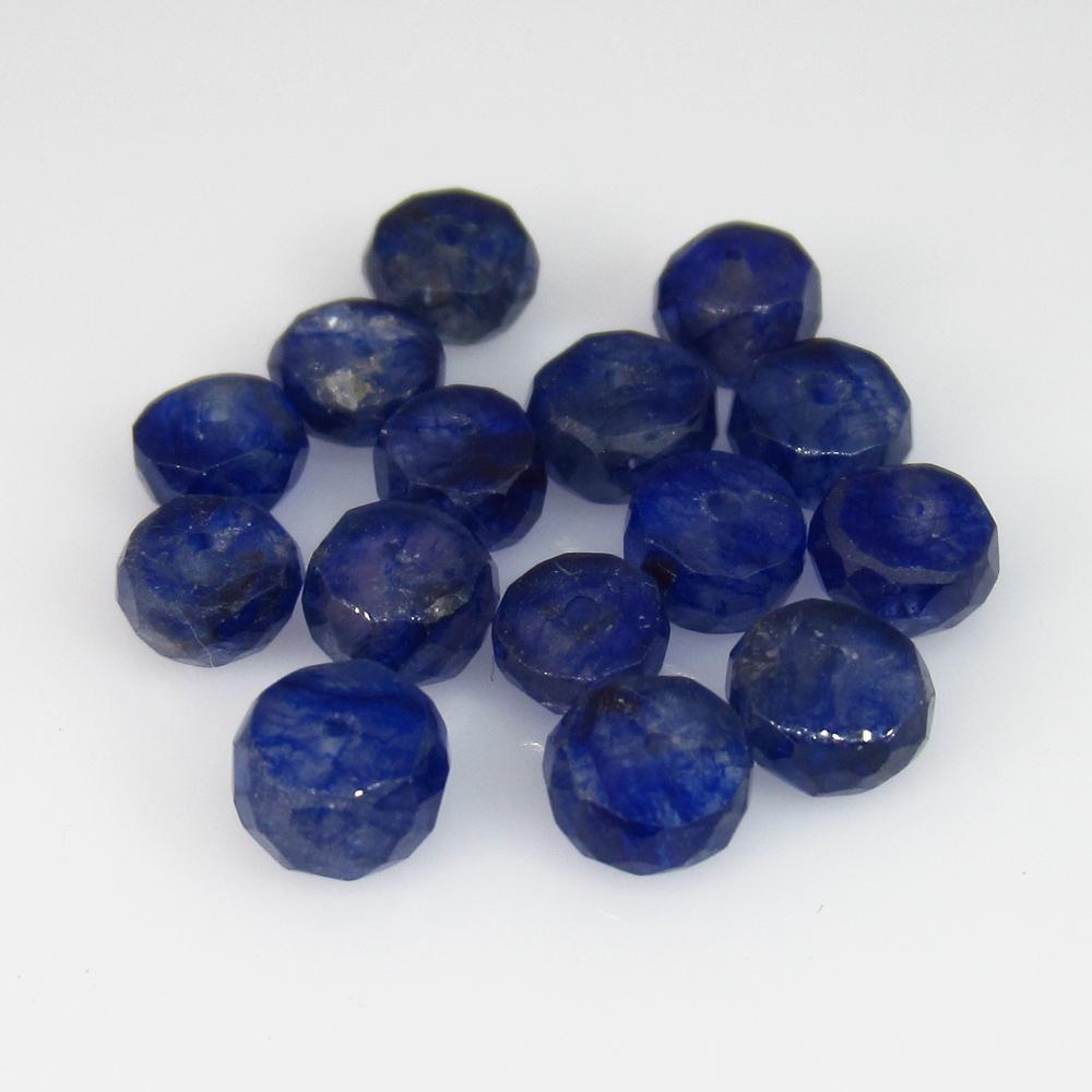 14.84 Ct Natural 15 Blue Sapphire Round Beads