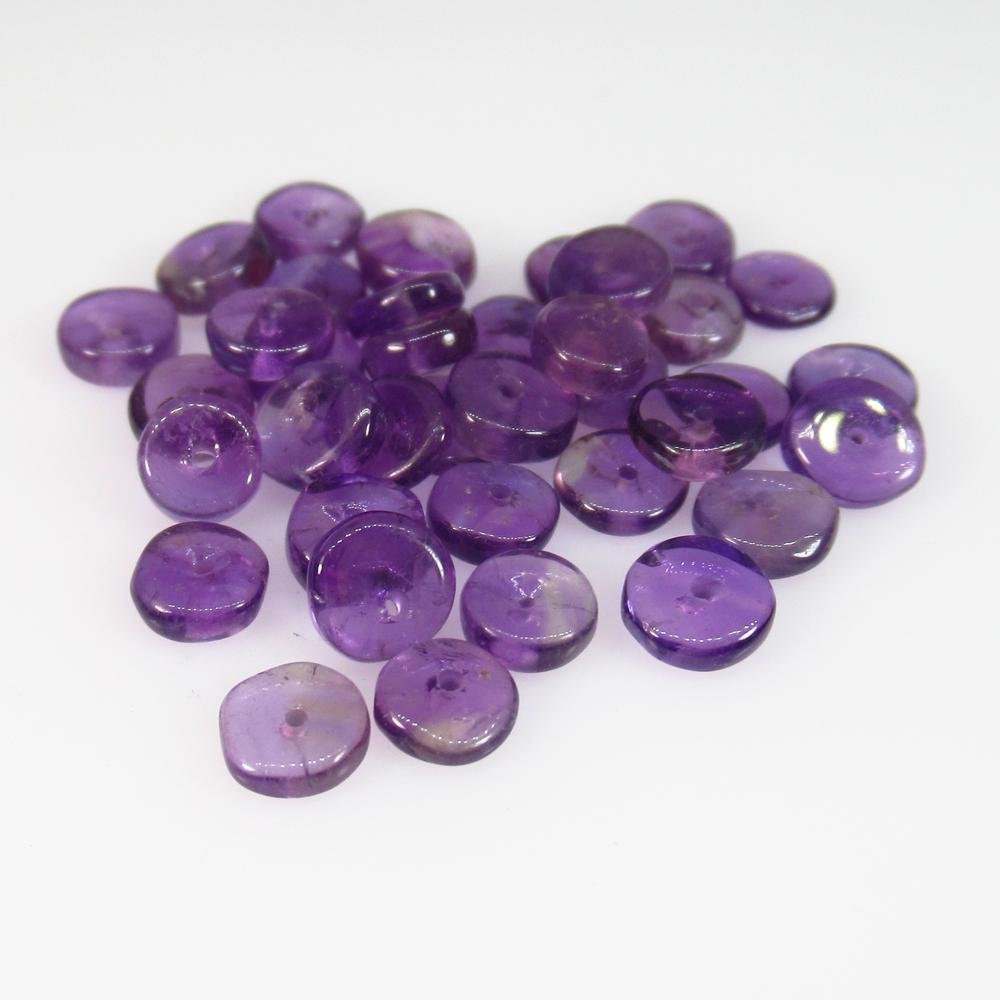 13.35 Ct Natural 30 Purple Amethyst Drilled Round Beads