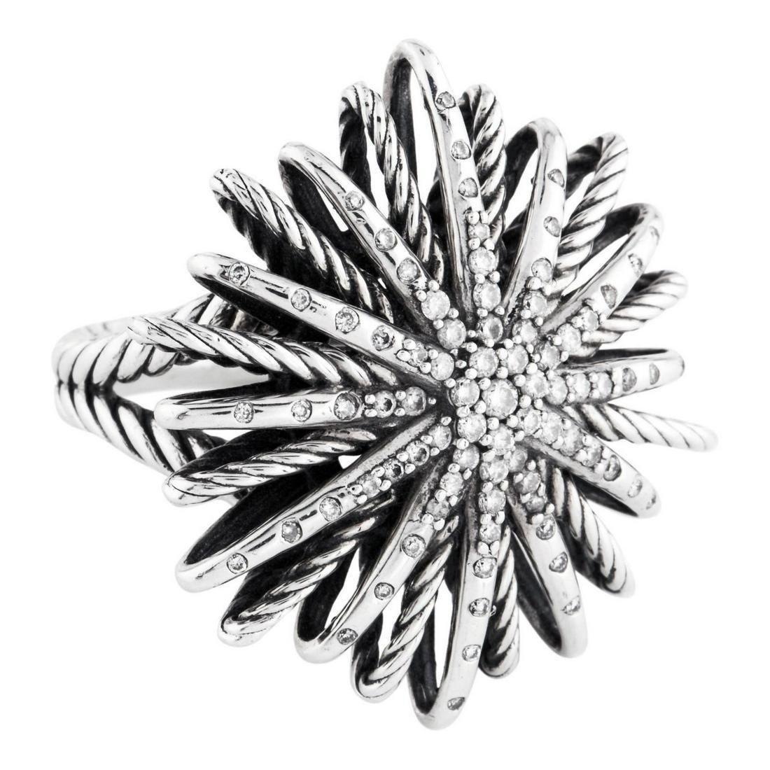 David Yurman Large Starburst with Paved Diamonds Ring