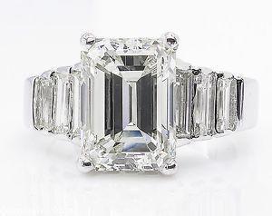 5.82ct Estate Vintage Emerald Diamond Engagement