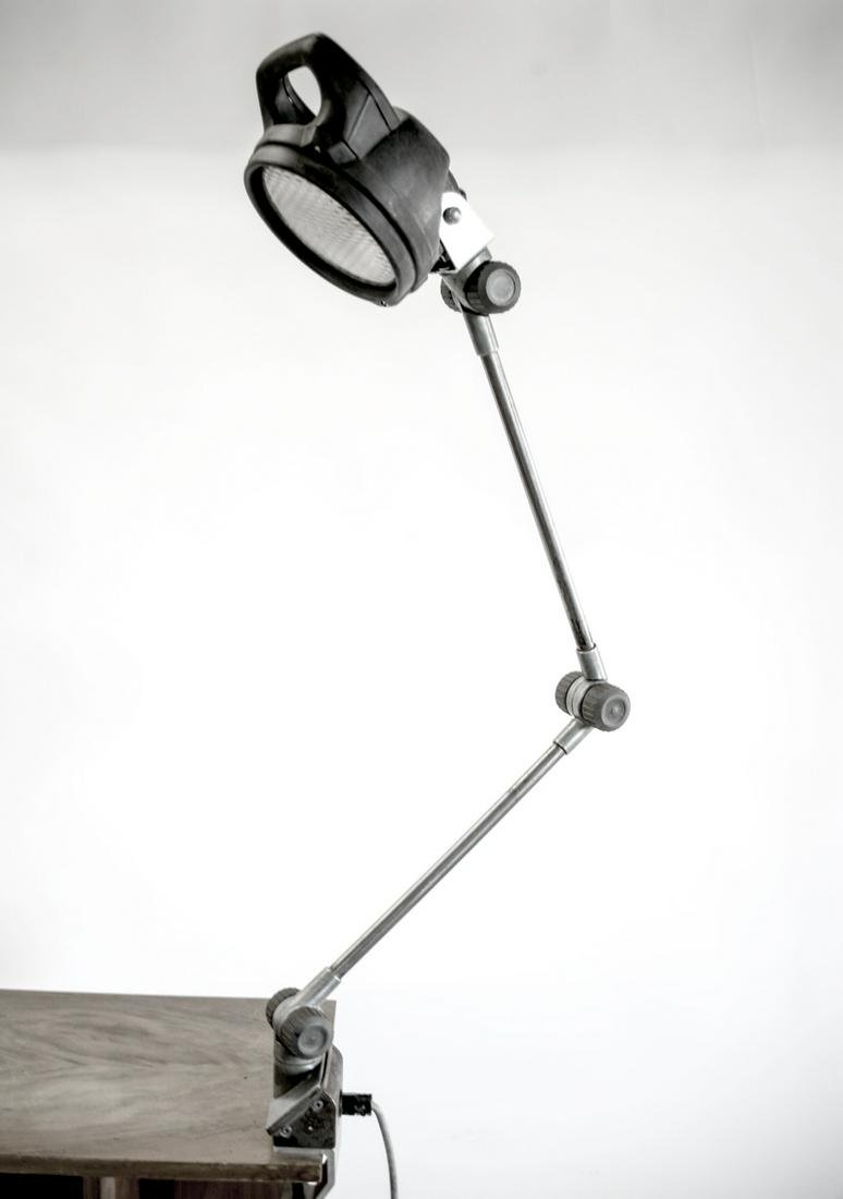 FRENCH MID CENTURY INDUSTRIAL FACTORY CLAMP LAMP LIGHT