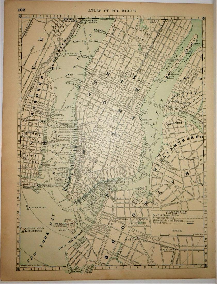 Manhattan, Brooklyn, Jersey City 1888