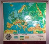 Cram's Physical-Political Map of Europe...