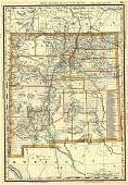 Rand, McNally & Co.'S Business Atlas Map of New Mexico.