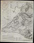 Scarce 1765 Montresor plan of New York (1855 reprint)