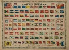 1868 Johnson National Flag Chart -- Johnson's New Chart